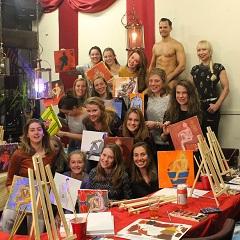 Workshop Naakt Schilderen bedrijfsuitje
